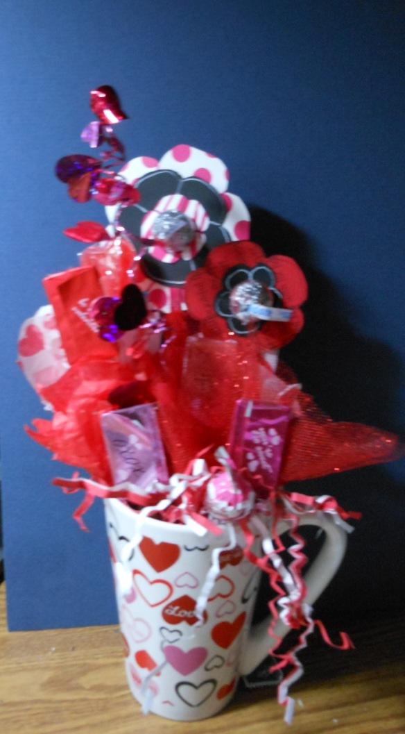 Valentine Candy & Flower Bouquet