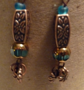 Earth Tones Antique Copper Dangling Earrings