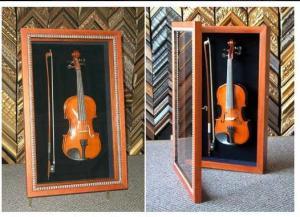 violin in shadow box
