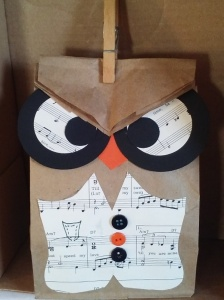 Whooos Birthday is coming up. Cute Gift BAg designed by Mary O @ Prairie Pine Peddler